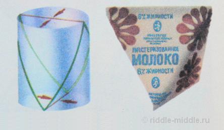 треугольные молочные пакеты